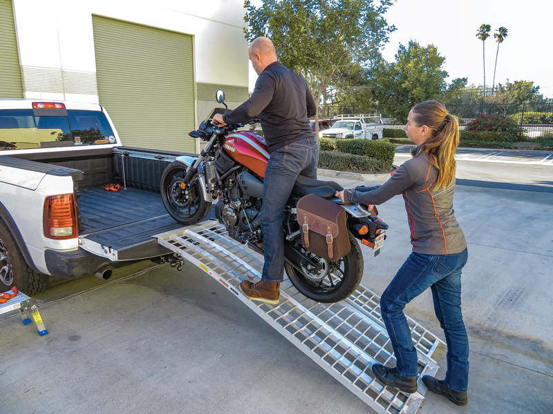 Safely Transport a Motorcycle